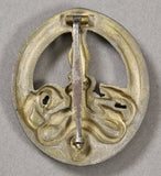 German WWII Gold Anti-Partisans Badge