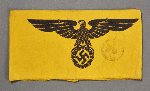 German WWII NAZI Government Official Worker's Armband
