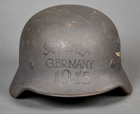 German WWII Model 40 Single Decal Luftwaffe Helmet