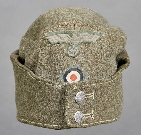 WWII German Army Model 1942 Side Cap for Other Ranks Personnel