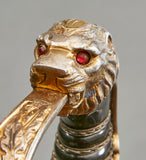 German WWII Army Officer's Lion Head Sword by F.W. Holler***STILL AVAILABLE***