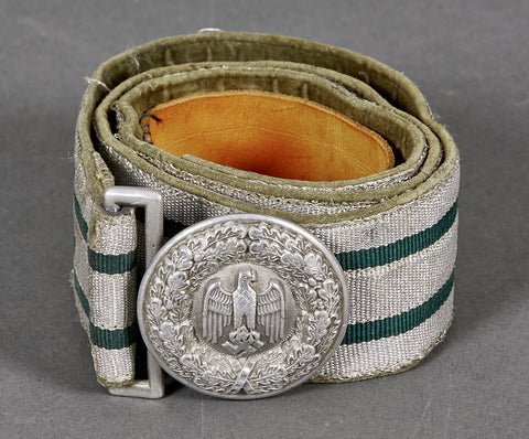 WWII German Army Officer Brocade Belt and Buckle