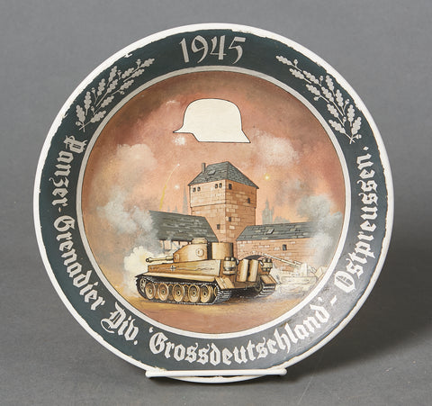 German WWII Army Dinner Plate with Fake Painting
