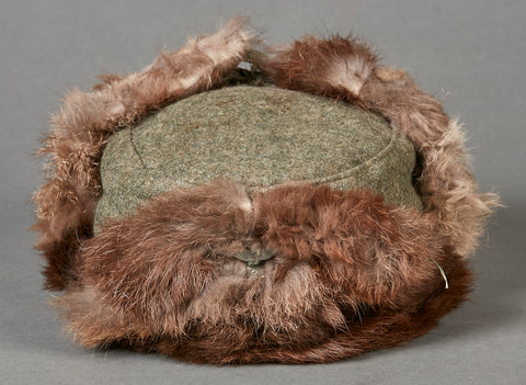 German WWII Army Russian Front Fur Cap