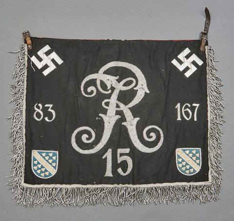 German WWII Army Trumpet Banner