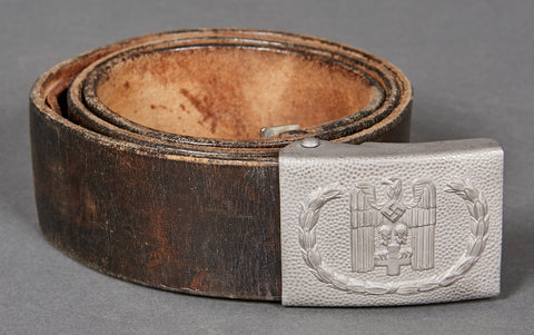 German WWII NAZI Red Cross Enlisted Man's Belt and Buckle Set