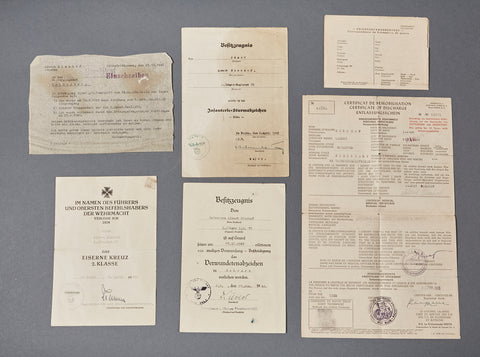 German WWII Document Grouping for an Enlisted Man in an Infantry Unit