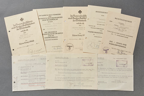 WWII German Document Grouping for NCO Hermann Fischer