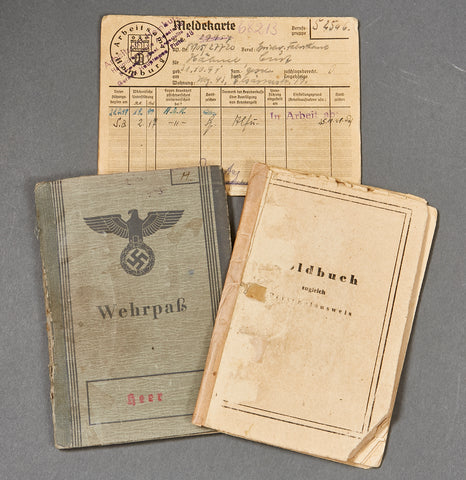 German WWII Wehrpass and Late War SS/Police Soldbuch
