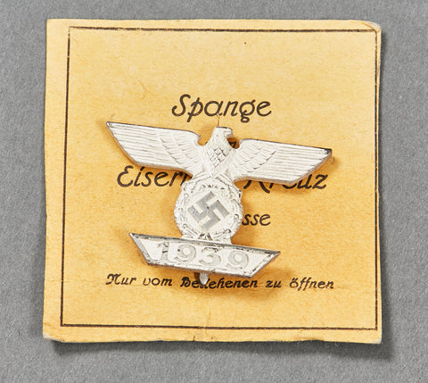 German WWII Spange for Iron Cross First Class with Part of Outer Carton