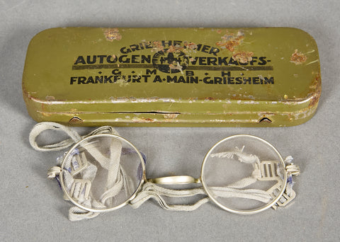 German WWII Cased Issue Soldier's Eyeglasses