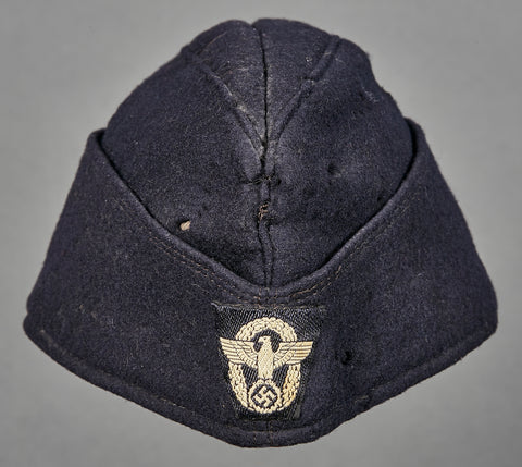 German WWII NAZI Fire Police Side Cap