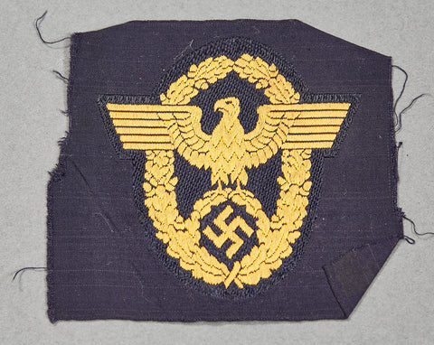 Third Reich Water Police Other Ranks Sleeve Shield