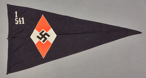 WWII German Hitler Youth Pennant