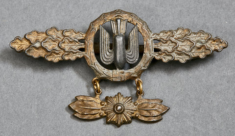 Luftwaffe Flying Clasp in Gold for Dive Bomber Squadrons w/Pendant