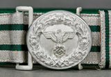 Third Reich National Forestry Official Brocade Belt and Buckle