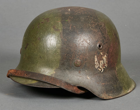 WWII German Army Model 1942 Single Decal Camouflage Helmet