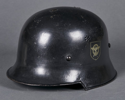 Third Reich Model 1934 Fire Police Double Decal Helmet
