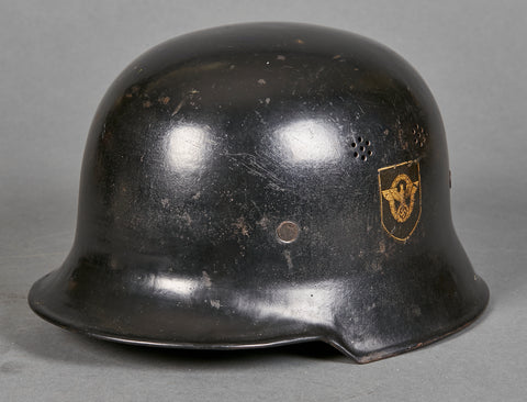 Third Reich Model 1934 Fire Police Double Decal Helmet-