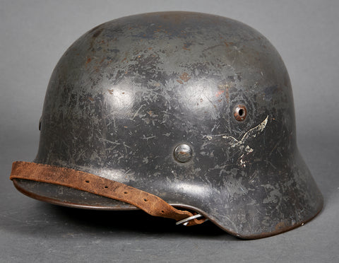 WWII German Model 1935 Luftwaffe Double Decal Helmet