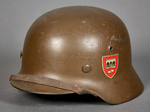 "Rare Model 1935 SA Standarte ""Feldherrnhalle"" Double Decal Helmet"
