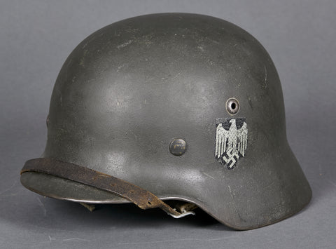 WWII German Army Model 1935 Single Decal Reissue Helmet