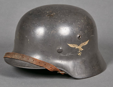 WWII German Luftwaffe Model 1935 Double Decal Helmet