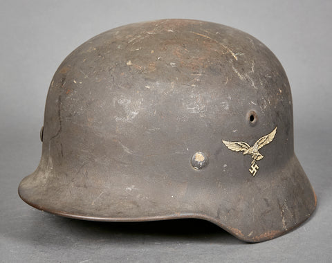 WWII German Luftwaffe Model 1940 Luftwaffe Single Decal Helmet