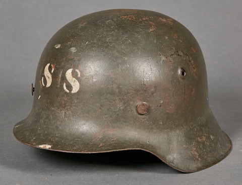 WWII German Model 1942 Helmet for School
