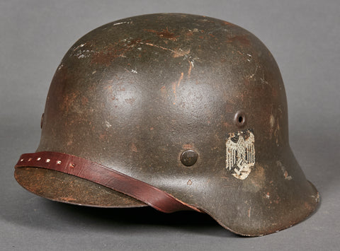 WWII German Army Model 1942 Single Decal Helmet