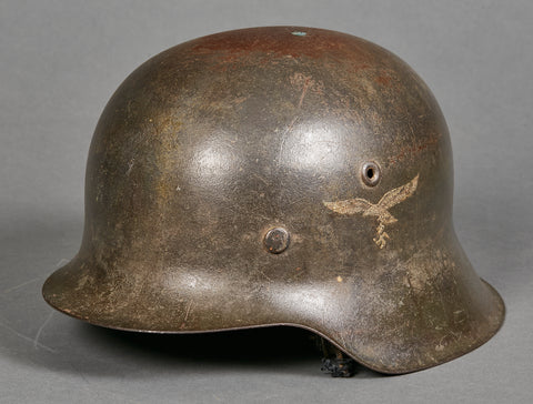 German Luftwaffe Model 1942 Single Decal Camouflage Helmet