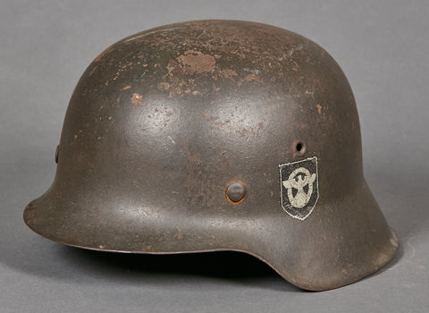 WWII German Police Model 1942 Double Decal Helmet