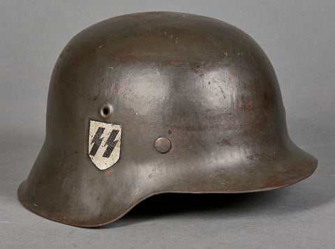 WWII German SS Model 1942 Single Decal Helmet