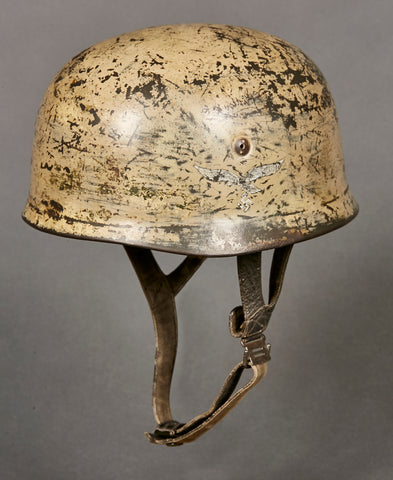WWII German Luftwaffe Model 1938 DAK Camouflage Paratrooper Helmet