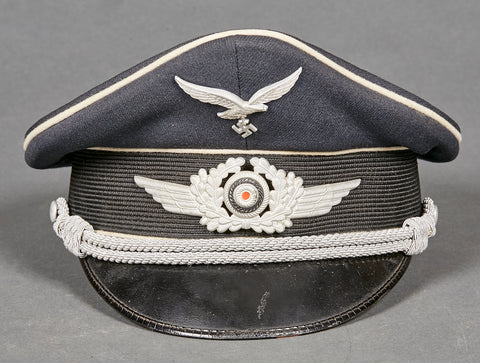 WWII German Luftwaffe Hermann Göring Officer Candidate Private Purchase Visor Cap