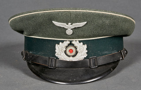 WWII German Army Infantry Other Ranks Visor Cap, Large Size 60