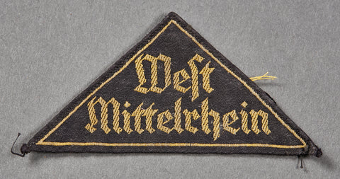 "German Hitler Youth ""District"" Triangle"
