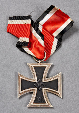 WWII German Iron Cross 2nd Class w/Ribbon, Ring Marked 65