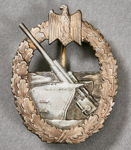 German Kriegsmarine WWII Coastal Artillery Badge