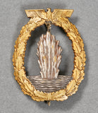 German WWII Kriegsmarine Mine Sweeper's Badge