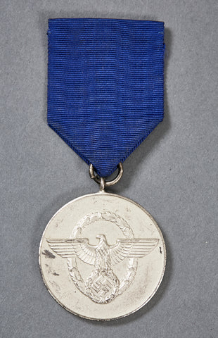 German WWII Police 8 Year Long Service Award w/Ribbon