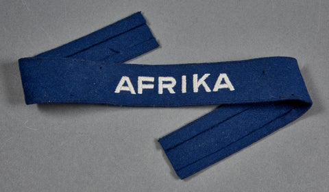 "WWII German Luftwaffe ""Afrika"" Cufftitle"