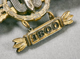 Very Rare German WWII Dive Bombers Operational Clasp with Pennant for 1,800 Flights by M. Kunststof in Gablonz