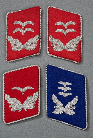 German WWII Luftwaffe Officer's Collar Tabs
