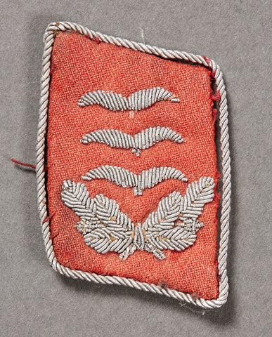 German WWII Single Officer's Collar Tab for Flak Luftwaffe Officer