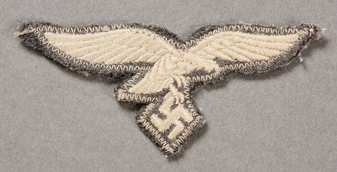 German WWII Luftwaffe Breast Eagle with Backing from Actual Tunic