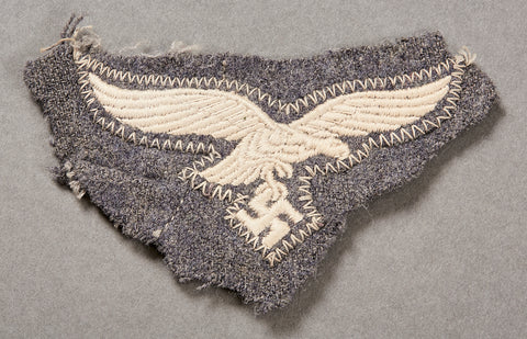 German WWII Luftwaffe Breast Eagle Still Attached to Portion of Tunic