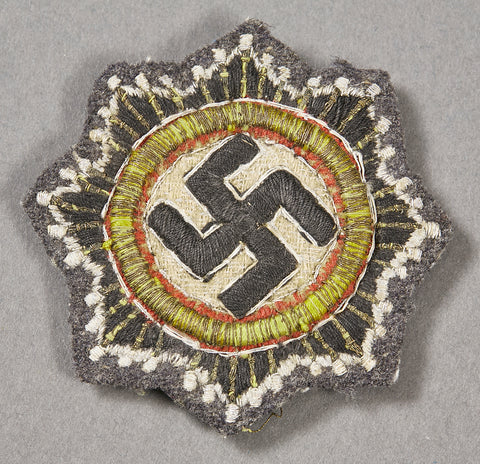German WWII German Cross in Cloth Heavily Embroidered