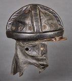 Early Pre WWII German Luftwaffe Glider Pilot's Leather Crash Helmet
