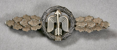 German WWII Short Range Night Fighter Operational Clasp in Silver